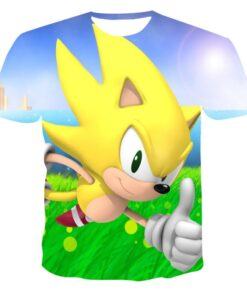 Short-Sleeve Sonic Anime 3d-Printing Large-Size Tops Customizable Men's Casual 110-6XL