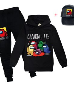 Girls Hoodie-Set Sportswear-Sets Spring Teenagers Anime Outdoor Boys Children's And