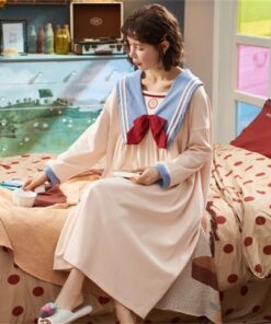 Women Nightdress Sailor-Moon Home-Clothes Loose Large-Size Plus New Pjs Anime Spring