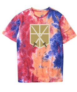Home-Wear Anime Short-Sleeved Cotton Cute Summer Casual Soft Tie-Dye Round-Neck Comfortable