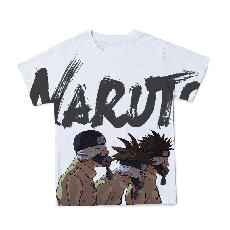 Summer New Japanese Anime Naruto Couple T-shirt 3D Printing Fashion Short-sleeved Hip-hop Style Oversized Top
