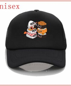 Caps Baseball-Cap Custom-Hat Ponytail Anime Hat Criss Women Sushi Fitted for Rock-Band