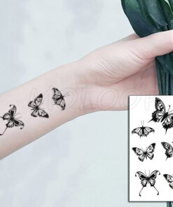 Tattoo-Sticker Buterfly Anime Makeup Body-Art Temporary Waterproof Women And Insect