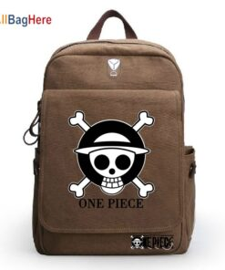 Teenager Canvas Rucksack Men Women Japanese Anime ONE PIECE Backpack Travel Casual Sdudent