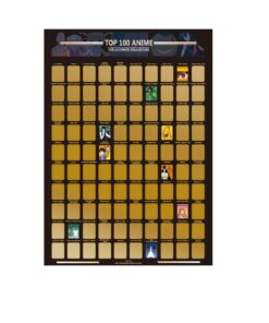 Top 100 Anime Scratch Off Poster Photo Wallpapers Kids Teenager Precious Gift For Anime