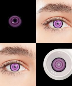 Halloween Lenses-Case Contact-Lenses Eyes Cosplay Colorful 2pcs/pair UYAAI for Anime