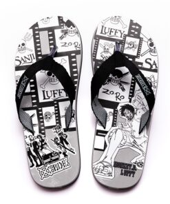 Unisex Anime ONE PIECE Group Luffy Casual Slippers Babouche Sandals Slides