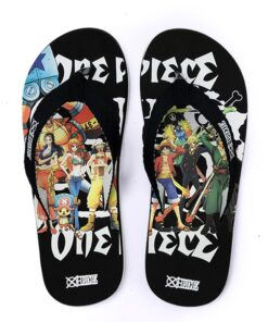 Casual Slippers Babouche Sandals Slides Unisex Anime Group Luffy One-Piece Nami Sanji