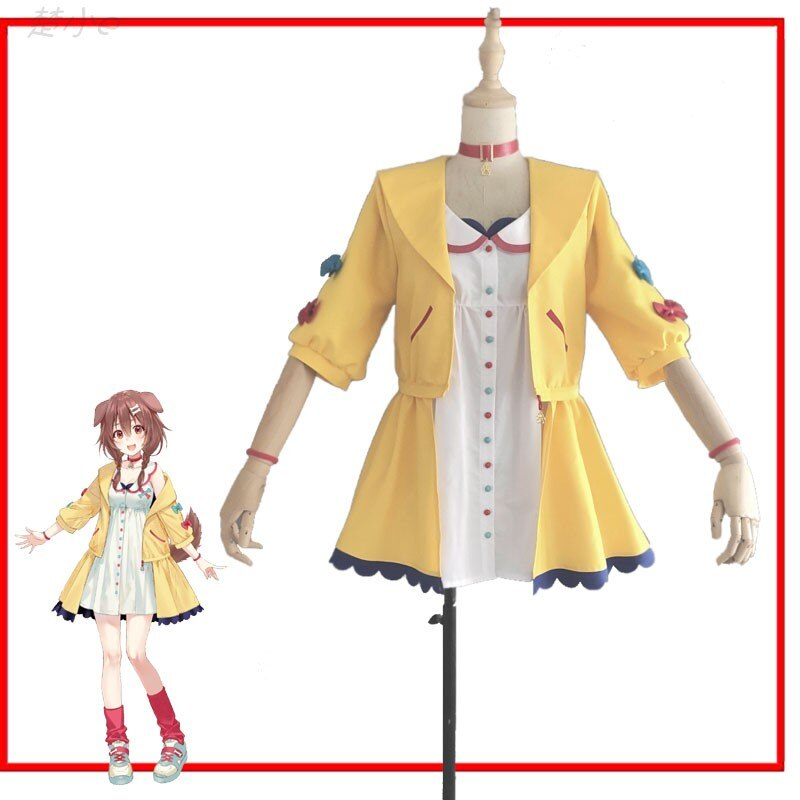 Anime Outfits Korone Cosplay Youtuber-Suit Costume Women Carnival Halloween Custom-Made