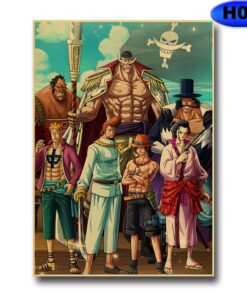 Anime Poster Straw-Hat Kraft-Paper Wall-Art Bedroom Prints Home-Decor One-Piece Pirate