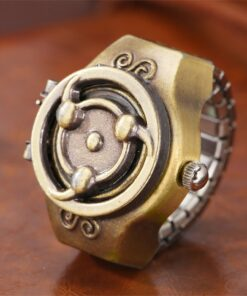 Vintage Japanese Anime Theme Elastic Band Ring Watches Quartz Finger Watch Accessory