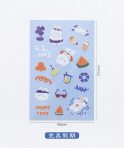 Stationery Scrapbooking Planner Deco Diary Stickers Bullet Journal Aesthetics Anime Bear