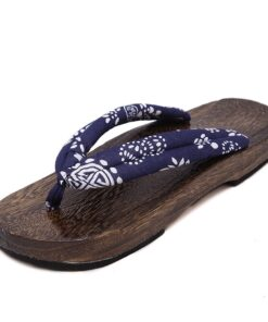 Wooden Shoes Sandals Slippers Clogs Flip-Flops Flat Anime Whoholl Summer Cosplay-Costumes