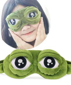 Costumes Sleep-Mask Blindfold-Cover Eye-Patch Relax Travel Frog Case Rest Anime Sad Cosplay