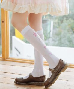 White Pantyhose Tights Women Stockings Footprints Anime Lolita Sexy Japan Cat Cute Claw