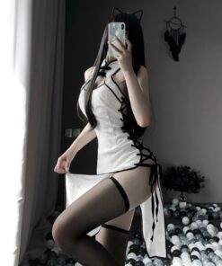 Woman High Open Fork Cosplay Costume Erotic Anime Sexy Lingerie Dress Lace Outfit Fancy