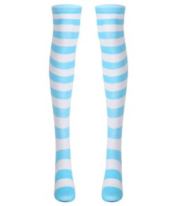 Striped Stockings Cosplay Anime Thigh Girls Women for Halloween Party Leg-Warmer Preppy