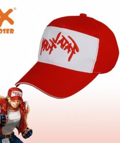Hat XCOSER The-King Terry Bogard Baseball-Cap Red White Anime-Accessory Fighters-Game
