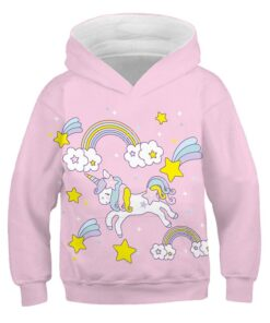 Kids Sweater Hoodies Anime Baby Boys Children Summer with Unicom for Itself XINYOU