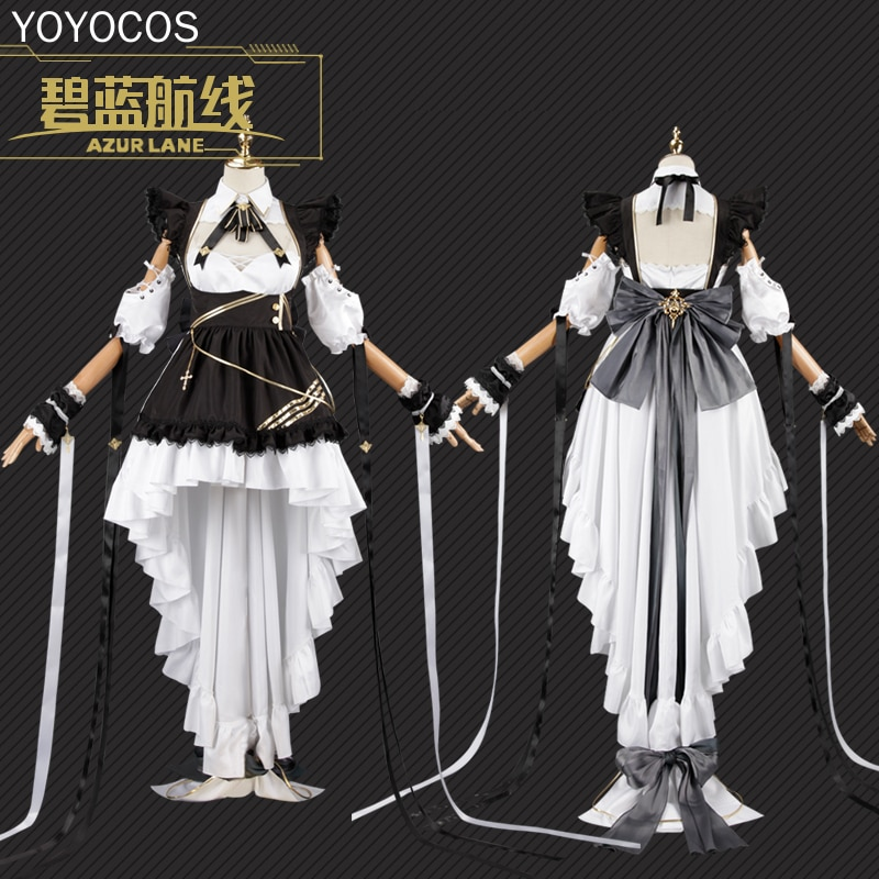 Costume Maid Anime Outfits Cheshire Cosplay Azur Lane Dress Suits Game Uniform HMS Fancy
