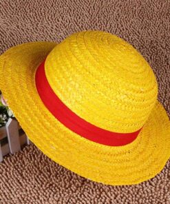 Caps Straw-Hats Luffy-Hat Cosplay One-Piece Japanese Beach Cute Boater Breathable Yellow