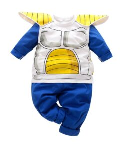 Baby Cartoon Anime Rompers Cotton Long-Sleeve Yierying Blue Set Trousers Armor Boy