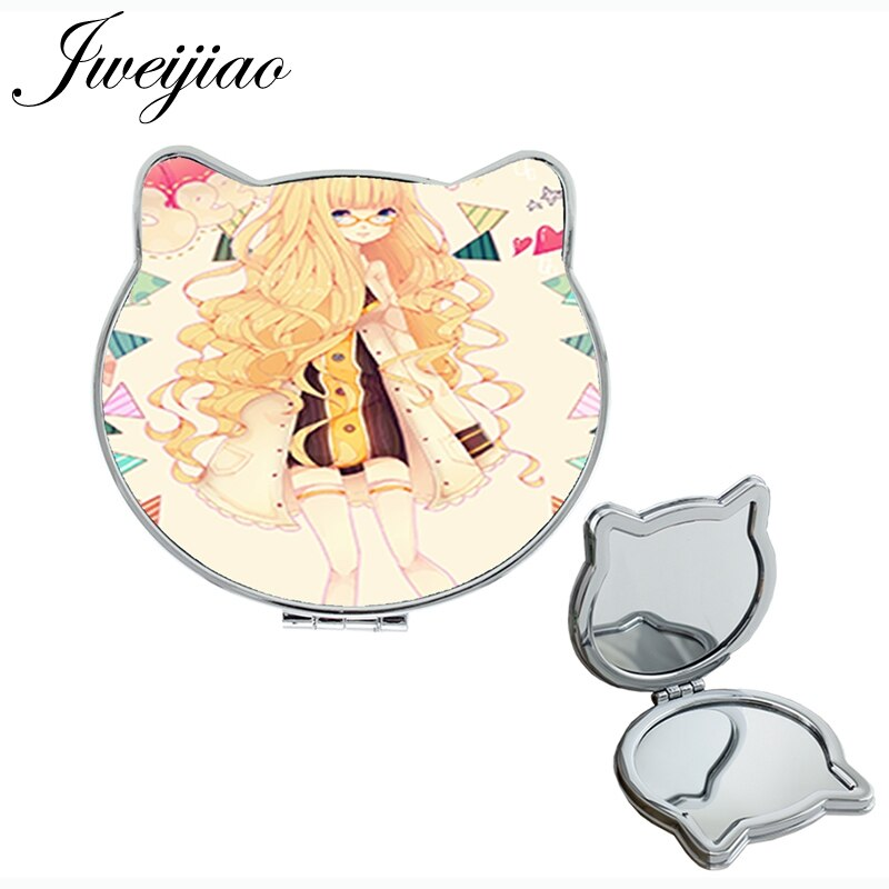 Portable Mirror Anime Young-Girls Double-Sides Gift Youhaken for Birthday-Party DM58