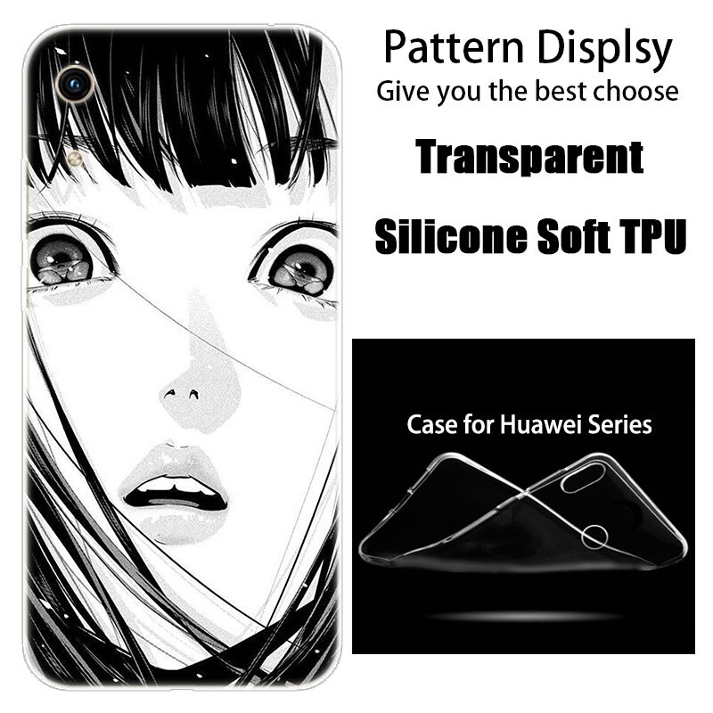luxury Silicone Case Japanese Anime horror comic for Huawei Honor 9X 8A 7A 20 Pro 7X