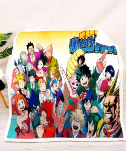 Anime Blanket Adults/kids 3D Pattern Wearable Academia Style-3 My-Hero Full-Printed