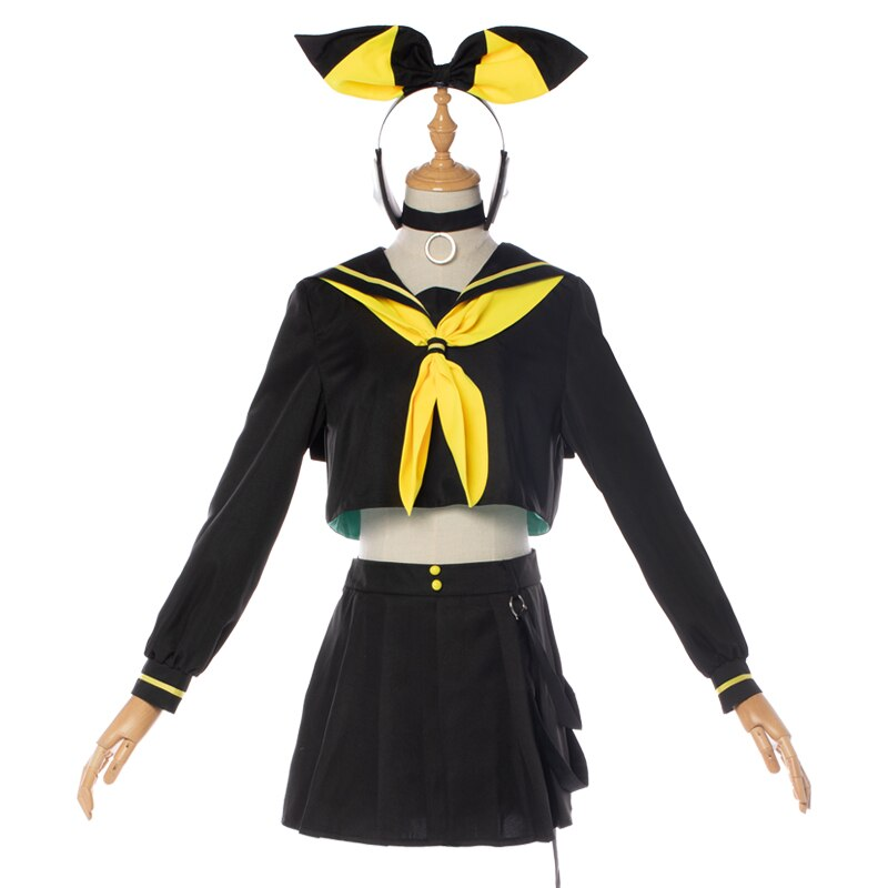 vocaloid V Kagamine Rin/Len Dress Adult Anime Clothes Full set Free Shipping